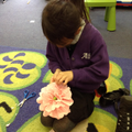 Learning how to make a flower