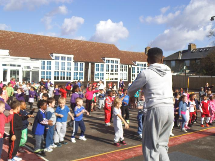 Our Zumba spectacular for Sports Relief