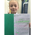 Gracie has used paragraphs and brackets.