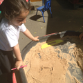 Tricky words in the sand