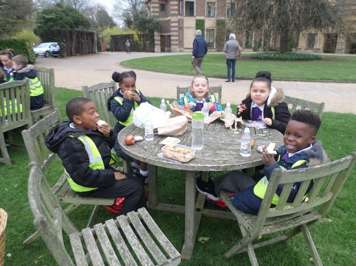 We had a picnic lunch