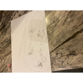 Kiera's drawing of the animals in the cave