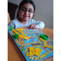 Playing a board game