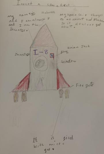 31.3.2020 - Isobella's rocket design!