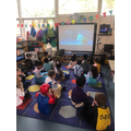 We watched Frozen in our nursery cinema