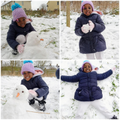 What a great looking snowman and snow angel!