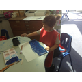 Making the ocean with a blue colourwash