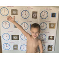 Hudson learning to tell the time!.jpeg