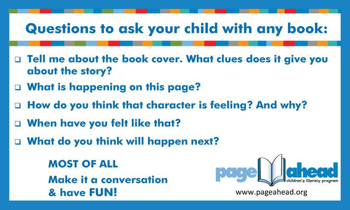 Talk to your child about the book