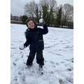 Snow ball fight time