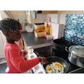 Making mummy breakfast