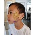 Aidan's face painting
