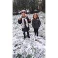 We love the snow :)