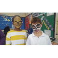 We had our faces painted (for disguises)