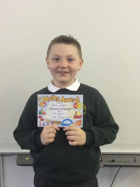 Oliver - Maths Award