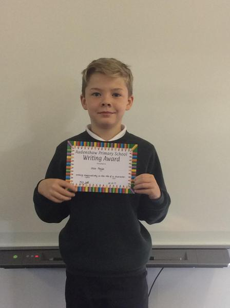 Ollie - Writing Award