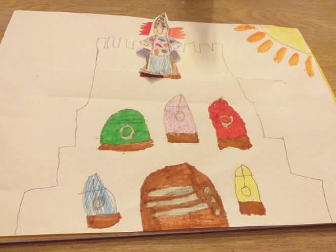 A Mr Benn sliding picture by Maryam