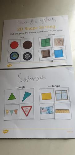 Safiyyah's super shape work