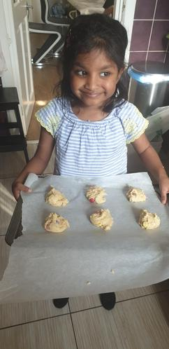 Safiyyah making cookies1SM
