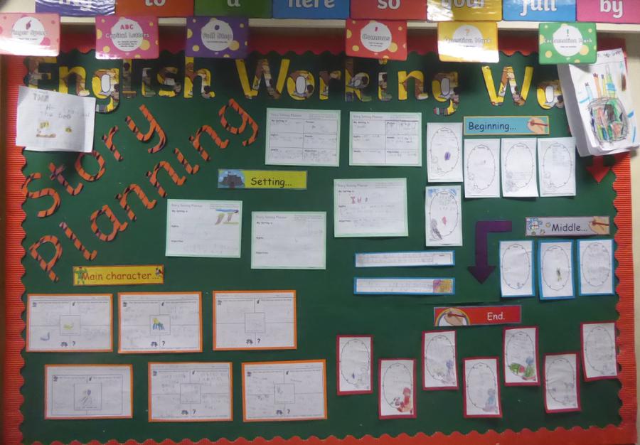 Y1 Writing Wall Feb 20