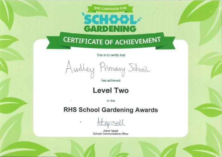 RHS School Gardening Awards Level 2 2017