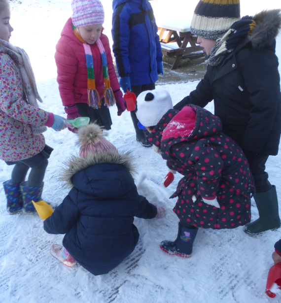 Reception Class – First Snow experience at Audley PS