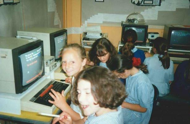 Y6 Working at Computers 1997