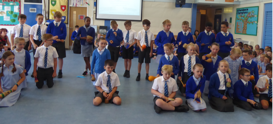 Y4 African Call and Response ensemble – Global Festival Day
