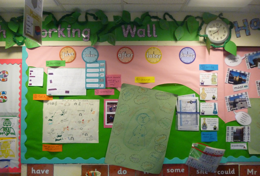 Y1 English Working Wall Sept 2017