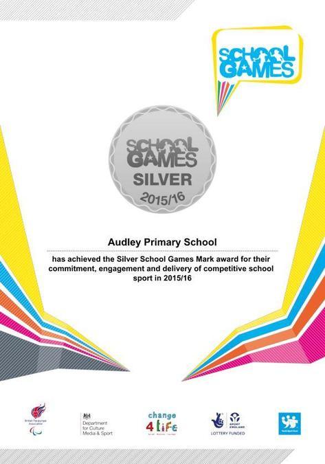 Sainsbury's Silver Kite Mark Certificate 2015/16