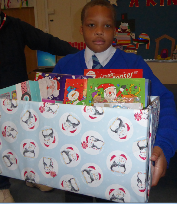 Salvation Army Christmas box donations 05/12/17