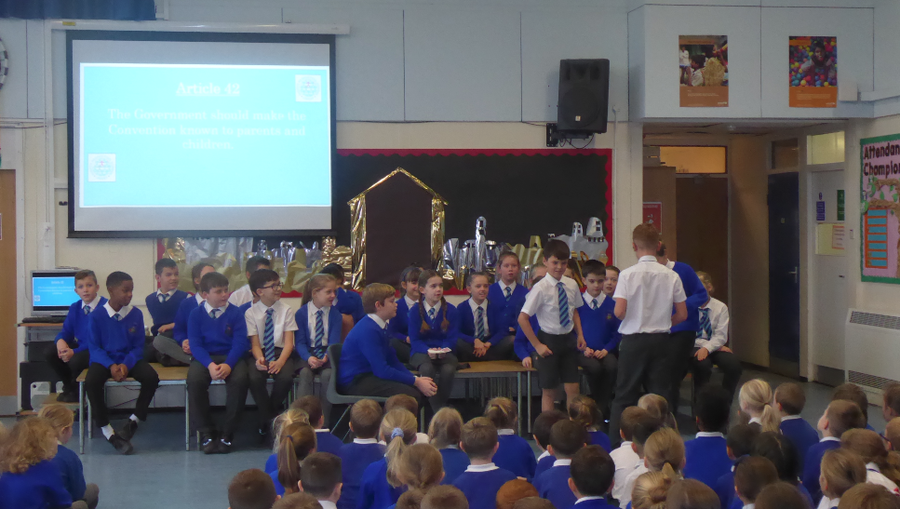 Y5 RRSA assembly on International Day of Disabled Persons