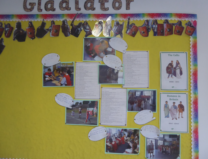 Y4 Roman Gladiator display