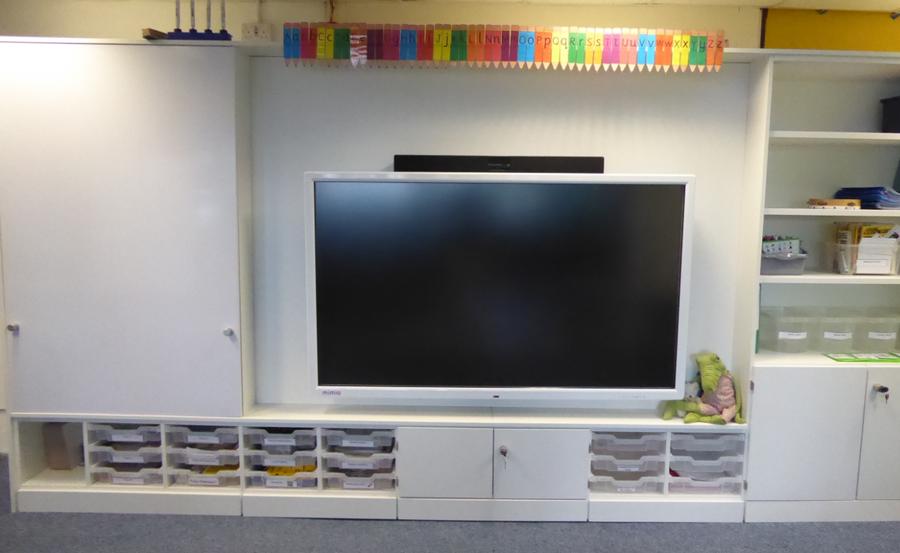 YR Reception teacher wall