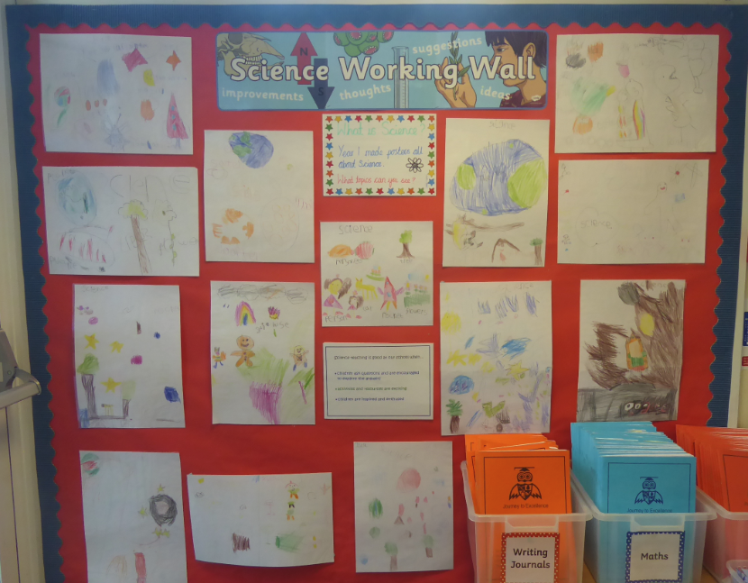 Y1 Science working wall