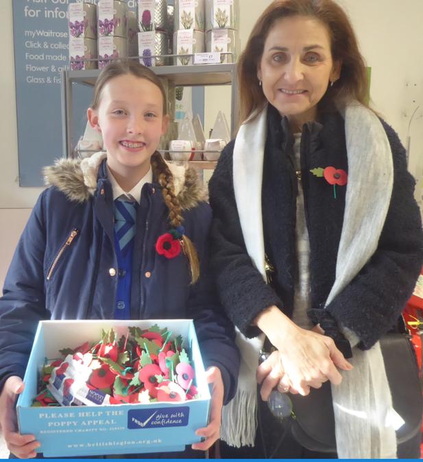 Poppy selling at Waitrose