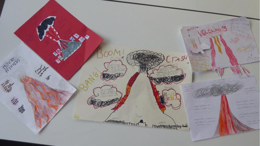 Y4 Volcanoes project work