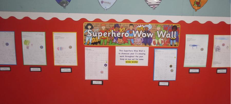 Y1 Superhero Work Feb 20
