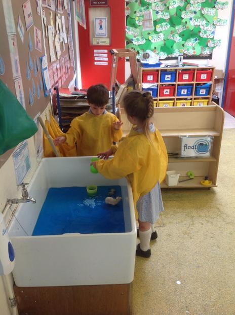 We enjoy water play