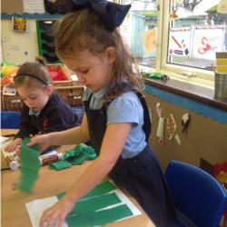 We like using the creative table to make things.