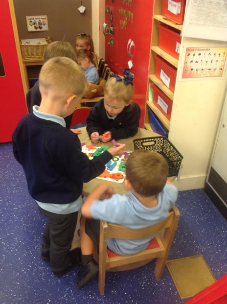 Practising our sounds.
