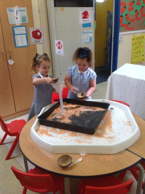 We explore and practise our fine motor skills.