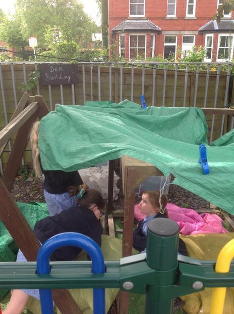We can make a den.