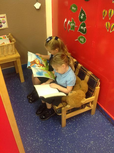 In the reading corner.