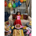 She had a family party for her 5th birthday