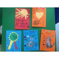Look at the amazing Father's Day cards we made!