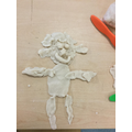 Joud created a 'happy' man with playdough