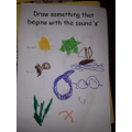 Maria drew many things that start with s