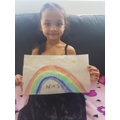 She made a lovely rainbow poster for the NHS
