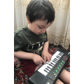 Playing the keyboard and exploring sounds